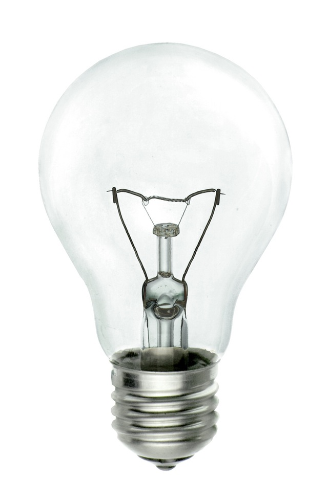 clear lightbulb showing an idea